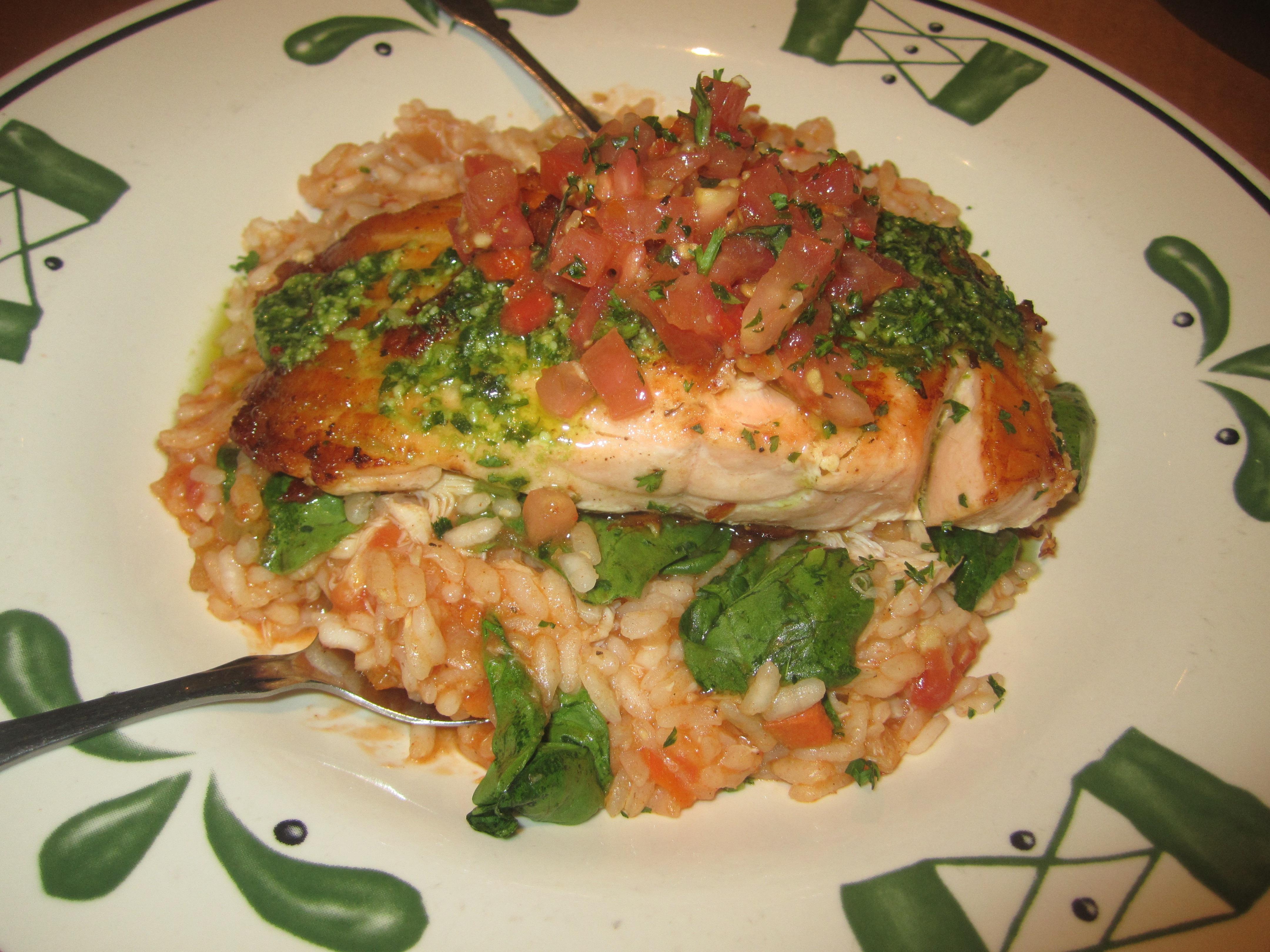 The Salmon Bruschetta. Photo By Karen