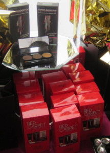 The Red Carpet Kits are the red boxes in front. Photo by Alice Farinas.