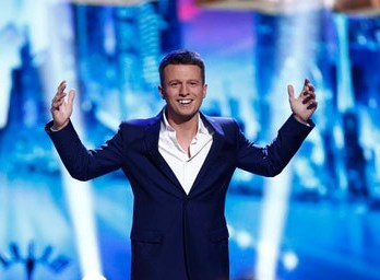 "Winner Mat Franco, literally saying, ""What?!"" when he was declared the victor!"
