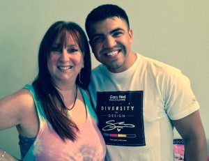 Victor Ortiz and Karen Salkin.