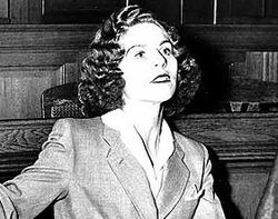 The real Stella Goldschlag, I'm assuming during her post-war trial.