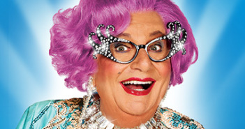 The glorious Dame Edna!