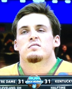 Pat Connaughton, looking like the tough guy that he is.  (But he doesn't ever appear to be punky, like this facial expressing is indicating.) Photo by Karen Salkin.