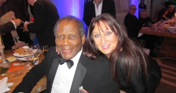 Sidney Poitier and an adoring Karen Salkin. Photo by Alice Farinas.