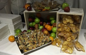 Some of the snacks.  Photo by Karen Salkin.