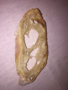 Nice hearty bread, right?  It's rather a bread OUTLINE! Photo by Karen Salkin.