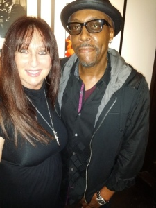 Karen Salkin and Arsenio Hall.  Photo by Alice Farinas.