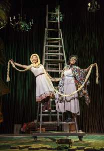 Lisa Helmi Johanson and Stephanie Umoh.  Can you guess which characters they're playing here?   Photo by Joan Marcus.