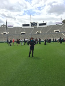 Karen Salkin, back on the Rose Bowl field!  Photo by Alice Farinas.