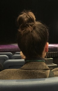 The rude person who sat in front of me...on two of the four nights!  Do you see what I mean?  Photo by Karen Salkin.