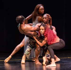 Lula Washington Dance Theatre, with Krystal Hicks in front.  Photo by Cheryl Mann.