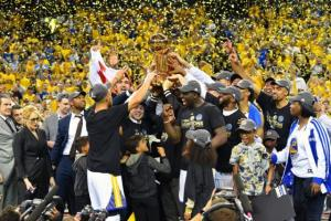 The victorious Golden State Warriors.