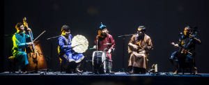 Just some of the muscians, including the Tuvan throat singers.  Photo courtesy of Memory 5D+.