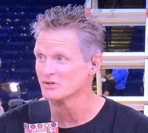 Cute Steve Kerr. Photo by Karen Salkin.