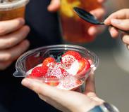 Strawberries and cream!  Yum!!!