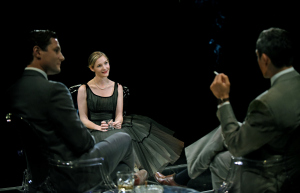 Augustus Prew, Jessica Collins, and Neal Bledsoe. Photo by Kevin Parry.