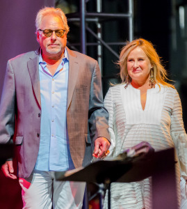 Spirit of Concern Humanitarian Award recipients Bruce Singer and Kelly Stone.  Photo courtesy of The Sprocket Project.