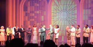 The curtain call, with Charles Randolph- Wright and the real BeBe Winans in the middle. Photo by Karen Salkin.