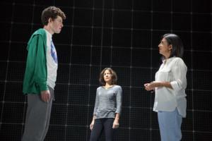 (L-R) Adam Langdon, Felicity Jones Latta, and Maria Elena Ramirez. Photo by Joan Marcus.