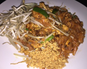 The Pad Thai.  (I don't have a pic of the curries because the ladies gobbled them too fast!)  Photo by Karen Salkin.