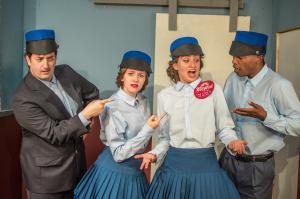 (L-R) Philip McBride, Nicole Sevey, Talya Sindel, and Rowan Treadway. Photo by Nicholas Mastrolia.