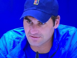 I never knew that Roger has hazel eyes!  I think that's because they're so set-back, and they need light to be seen.  Photo by Karen Salkin.