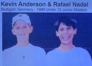 US Open finalists Kevin Anderson and Rafa Nadal...when they were twelve!!!   Photo by Karen Salkin.
