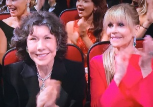 Lily Tomlin and Jane Fonda.   Photo by Karen Salkin, as is the big one at the top of the page.