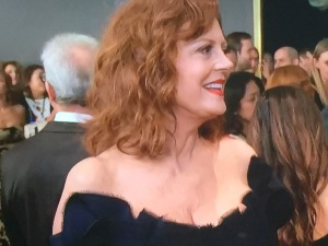 Susan Sarandon's wrinkly cleavage. Photo by Karen Salkin.