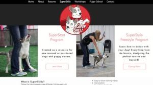 Just part of the uber-professional dog training and personal appearance website of the big fat liar, Sarah Carson.