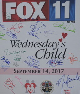 The charity poster we all signed.  Look whose autograph is front and center!