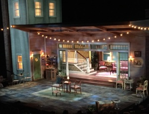 The set as the play begins. Photo by Karen Salkin.