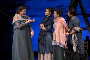 Dot-Marie Jones, Alexandria Wailes, Annika Markes, and Marie France Arcilla. Photo by Jenny Graham.