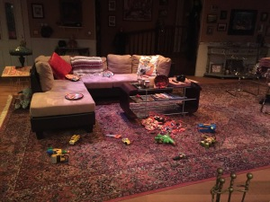See all that Halloween candy spilling onto the floor in the center?  Photo by Karen Salkin.