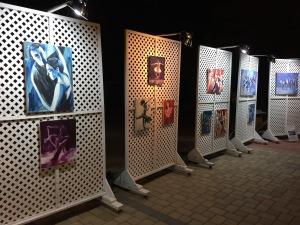 The outdoor art exhibit.  Photo by Karen Salkin.