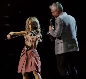 Lindsey Stirling and Dave Koz.