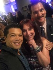 (L-R) Vincent Rodriguez III, Karen Salkin, Pete Gardner. Photo by  Vincent Rodriguez III.