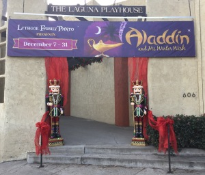 The colorful entrance to the Laguna Playhouse. Photo by Karen Salkin.