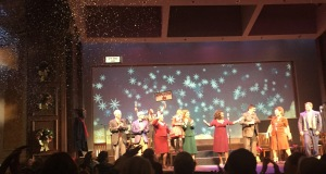 The fun curtain call.  (Notice what's happening on the top left.) Photo by Karen Salkin.