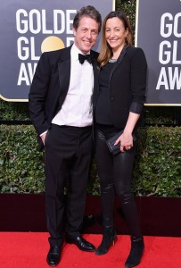 Hugh Grant and his girlfriend at the Golden Globes...
