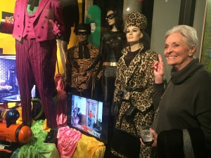 Lee Meriwether on the right, next to her own likeness. Photo by Karen Salkin.