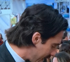 Milo Ventimiglia's weird hair. Photo by Karen Salkin.