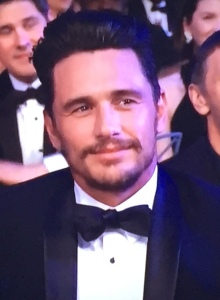 This perfectly captures James Franco's face when his name was called-off as a nominee.  It shows such pain, and sort-of shame at being there, while trying to put on a brave front.  Photo by Karen Salkin.