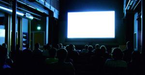 People-watching-movie-screen-blank