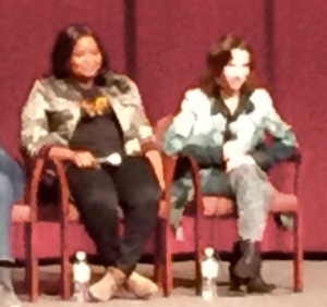 Octavia Spencer and Sally Hawkins.  Very blurry photo by Karen Salkin.
