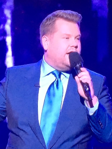 Grammys Host James Corden. Love this blue suit!!! Photo by Karen Salkin.