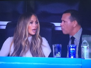 JLo and ARod, looking pretty spiffy.  (I wrote about them further down, but had no where else for this pic.  And seeing them in any spot  is always fun, right?) Photo by Karen Salkin.