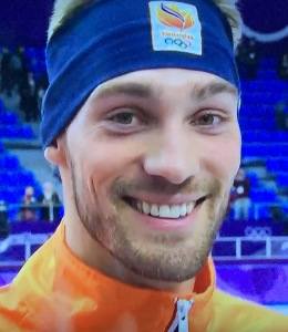 Speaking of good-looking atheletes, how about this gorgeous face on Dutch Speed Skater, (and gold medalist,) Kjeld Nuis? Photo by Karen Salkin.