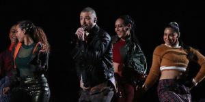 Justin Timberlake and dancers.