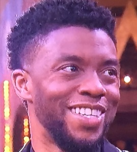 Chadwick Boseman and his teeth that are in great need of fixing.  Photo by Karen Salkin.
